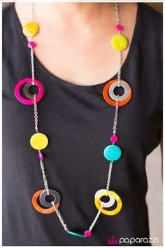 Paparazzi - Kaleidoscopically Captivating necklace w/earrings for sale - $5 - available at www.paparazziaccessories.com/43619