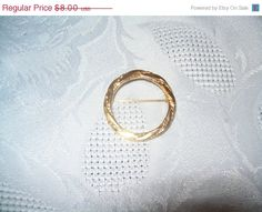 Monet brooch vintage Monet goldtone jewelry by vintagebyrudi
