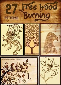 27 Free Wood Burning Patterns … More