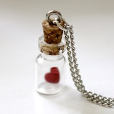 Bottled Love Necklace  by Jezie Jewelry  $15.50    I love it, SO MUCH.
