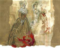 """Saatchi Art Artist Ute Rathmann; Drawing, """"Hommage à Watteau XIV"""" #art"""