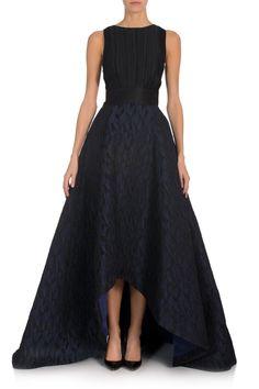Jacquard High Low Evening Skirt