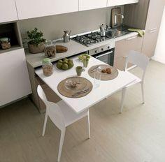 Cucina con tavolo estraibile 16