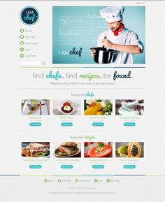 I Am Chef - Webdesign inspiration www.niceoneilike.com