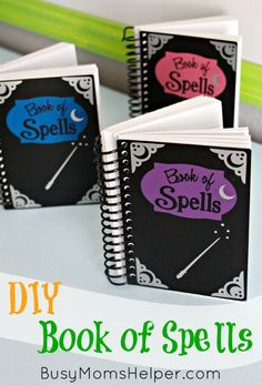 Get ready for Halloween, a trip to Harry Potter World, or any magical happening with this fun & BUDGET FRIENDLY DIY Book of Spells!