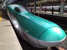 """""""Hayabusa"""" Shinkansen superexpress of Japan."""