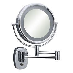 Zadro Surround Light 10x 1x Wall Mirror In Satin Nickel