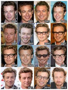 "theonewiththevows: ""The Evolution of: Simon Baker """