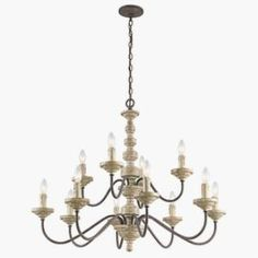 Kichler Lighting 43473VWW Briellis - Twelve Light, Chandelier, 36w, $790