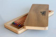 Porta matite di legno  Porta penne di legno  di VenaturArtistica