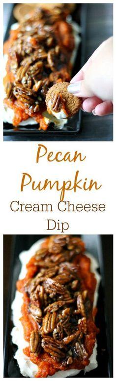 Easy Pumpkin Pecan Cream Cheese Dip