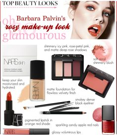 """How To: Rosy Make-up Look"" by pocaqooka ❤ liked on Polyvore"