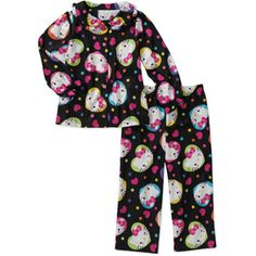 Baby Girls' 2-Piece Character Button Down Pajama Set