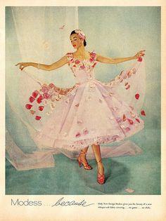 Modess advertisment, 1955.