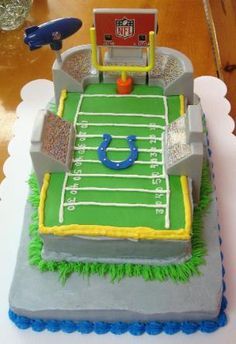 10 Colts and Saints Groom's Cakes | GroomsAdvice.