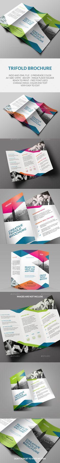 Square Trifold Corporate Brochure-v77 More Corporate brochure - trifold indesign template