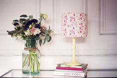 Paper flower lamp paper table lamp paper mache desk lamp group shabby chic lampshade floral lamp shade flower decor floral decor cottage decor girls nursery accessories pink table lamp drum lightshade mightylinksfo Gallery