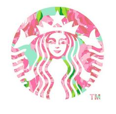 Buy 'Floral Starbucks' by erinaugusta as a Sticker or Mug. Super cute and colorful Starbucks logo! Transparents Tumblr, Oblyvian Girls, Image Swag, Tumblr Png, Tumblr Hipster, Image Tumblr, Starbucks Logo, Starbucks Coffee, Pink Starbucks