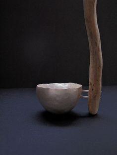 """Ladle"" by Ali Stringell. Fine silver, driftwood."