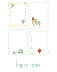 Printable labels and cards including kid thank-yous