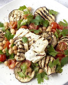 Halloumi, Veggie Recipes, Salad Recipes, Vegetarian Recipes, Healthy Recipes, Healthy Cooking, Healthy Eating, Low Carp, Werk Af