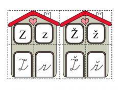 Chaloupky s písmenky Kindergarten Math, Grade 1, Alphabet, Calendar, Education, Holiday Decor, School, Kids, Young Children