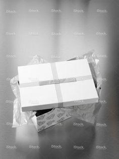 Gift Box on Stainless Steel stock photo 15476141 - iStock