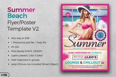 Summer Beach Flyer Template V2 | The Hungry JPEG