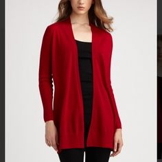 Eileen Fisher Red Merino Wool Cardigan Perfect condition. 100% merino wool. Can also fit a size small. Red is lighter than in stock photos. Eileen Fisher Sweaters Cardigans