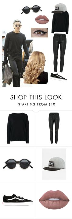 """""""Rap monster inspired look"""" by btsbxtch ❤ liked on Polyvore featuring Frame Denim, Vans, Lime Crime, bts and rapmonster"""