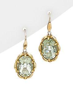 TACORI Prasiolite 18K & Silver 11.81 ct. tw. Quartz Dangle Earrings