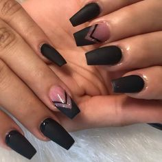 Edgy Nails, Grunge Nails, Dope Nails, Stylish Nails, Trendy Nails, Swag Nails, Halloween Acrylic Nails, Blue Acrylic Nails, Blush Pink Nails