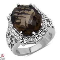 Jet NissoniJewelry presents - Smokey Quartz Fashion Ring in Sterling Silver 925    Model Number:FR8190-SISMQ    https://jet.com/product/Smokey-Quartz-Fashion-Ring-in-Sterling-Silver-925/77e1f231a58b49c6acb121f511a1653b