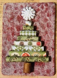 The Artful Maven Haven: December ATC's and Cards Received; love the rolled tree...
