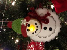 Snowman Tealight ornament ... would make a really cute class winter party craft