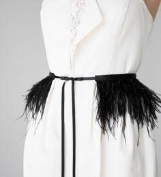 Black Feather Dress, Wedding Dress With Feathers, Black Feathers, Ostrich Feathers, Goth Wedding Dresses, Wedding Dress Sash, Classic Wedding Dress, Bridal Sash Belt, Bridal Gowns