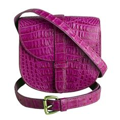Zink Collection - Mini Gypsy Crossbody - Berry Pink Crocodile , $1,195.00 (http://www.zinkcollection.com/mini-gypsy-crossbody-berry-pink-crocodile/)