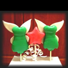 Tinkerbell theme cake pops!-by mayra