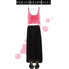 A fashion look from May 2013 featuring pink top, long skirts and leather sandals. Browse and shop related looks. Ootd, Formal Dresses, Casual, Polyvore, How To Wear, Stuff To Buy, Outfits, Shopping, Collection