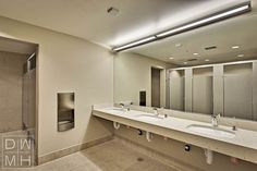 Commercial bathrooms design commercial bathroom 3d set for Commercial bathroom lighting
