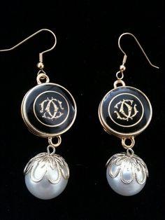 Chanel Button Earrings DesignsbyZ Postmark zumphlette@aol. com