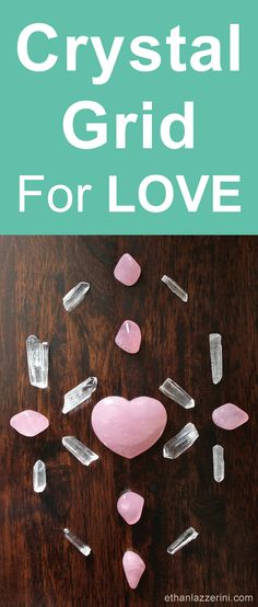 Learn how to make a Crystal Grid for love. Attract a new relationship partner with the power of crystals like Rose Quartz #crystalhealing