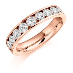 Channel Set 1.00ct Round Brilliant Cut Diamond Half Eternity Ring | Reppin & Jones Jewellers