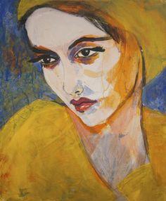 "ARTFINDER: ""Portrait - Luzia by richard kuhn - acrylics on Canvas size x Grösse: 60 x 50 Canvas Art, Canvas Size, Back Art, Art For Art Sake, Art Plastique, Portrait Art, Figurative Art, Female Art, Art Images"