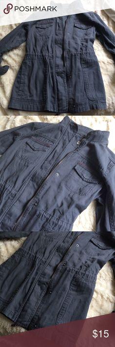 Marina medium dark grey jacket. Very cute and in good condition. Merona Jackets & Coats Jean Jackets