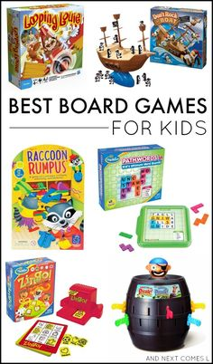 Best board games for kids including board game suggestions for toddlers and preschoolers, as well as board game suggestions for ages 6+.