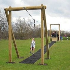51 awesome small backyard playground landscaping ideas - All For Garden Backyard Play Spaces, Outdoor Play Areas, Backyard For Kids, Outdoor Fun, Backyard Patio, Backyard Landscaping, Landscaping Ideas, Natural Playground, Playground Design