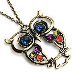 Vintage women necklace classic animal style