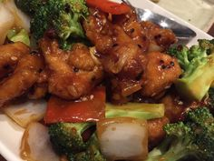 Chicken with sour orange & ginger sauce and a litter bit of sesame by P.F Chang's