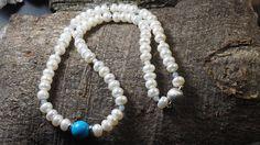 Perlenkette mit Achat und Zierelementen aus Sterlingsilber 925